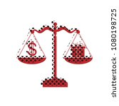 gift and dollar symbol on... | Shutterstock .eps vector #1080198725