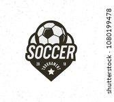 football  soccer logo. sport... | Shutterstock .eps vector #1080199478