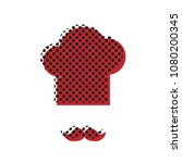 chef hat and moustache sign.... | Shutterstock .eps vector #1080200345
