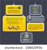 yellow and gray template for... | Shutterstock .eps vector #108020936