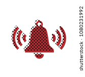 ringing bell icon. vector.... | Shutterstock .eps vector #1080231992