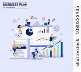 business plan flat design... | Shutterstock .eps vector #1080233435