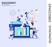 management flat design concept... | Shutterstock .eps vector #1080233465