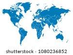world map vector | Shutterstock .eps vector #1080236852