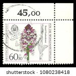 germany   circa 1984  stamp... | Shutterstock . vector #1080238418