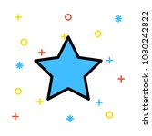 grade favorite star | Shutterstock .eps vector #1080242822
