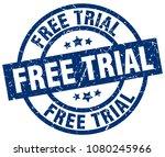 free trial blue round grunge... | Shutterstock .eps vector #1080245966