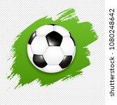 soccer ball with green blot... | Shutterstock .eps vector #1080248642
