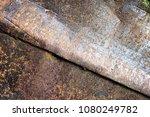 metal texture with scratches... | Shutterstock . vector #1080249782