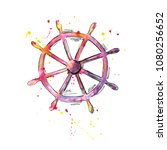 watercolor illustration of the... | Shutterstock . vector #1080256652