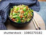 Bowl Of Vegan Fries Rice