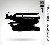 black brush stroke and texture. ...   Shutterstock .eps vector #1080277088