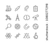 set of science icons  line... | Shutterstock .eps vector #1080277298