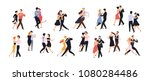 collection of pairs of dancers... | Shutterstock .eps vector #1080284486