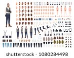 photographer constructor set or ... | Shutterstock .eps vector #1080284498