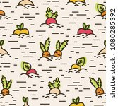 seamless pattern with various... | Shutterstock .eps vector #1080285392