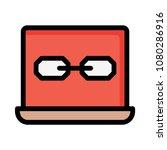 link url laptop  | Shutterstock .eps vector #1080286916