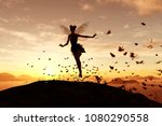3d rendering of a fairy on a... | Shutterstock . vector #1080290558