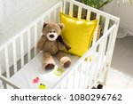 high angle view of teddy bear ... | Shutterstock . vector #1080296762