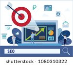 seo  search engine optimization ... | Shutterstock .eps vector #1080310322