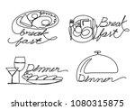 graphic food  vector | Shutterstock .eps vector #1080315875