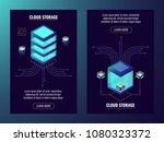 cloud data storage  server room ... | Shutterstock .eps vector #1080323372