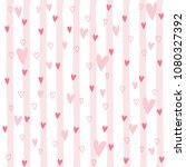 cartoon girl seamless pattern... | Shutterstock .eps vector #1080327392