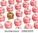 gold pig coin box  worth in a... | Shutterstock . vector #10803355