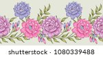 seamless textile floral border | Shutterstock .eps vector #1080339488