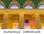 american flag hanging in the... | Shutterstock . vector #1080341228