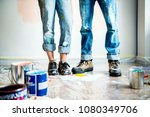 people renovating the house | Shutterstock . vector #1080349706