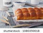 brioche buns with some... | Shutterstock . vector #1080350018