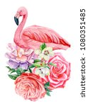 watercolor illustration ... | Shutterstock . vector #1080351485