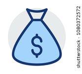 sack  cash dollar  | Shutterstock .eps vector #1080372572