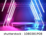 glowing neon lighting and a... | Shutterstock . vector #1080381908
