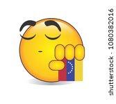 proud venezuelan emoji isolated ... | Shutterstock .eps vector #1080382016