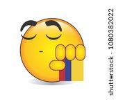 proud colombian  emoji isolated ... | Shutterstock .eps vector #1080382022
