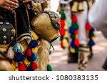 april folk mask carnaval in... | Shutterstock . vector #1080383135