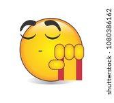 proud spanish emoji isolated... | Shutterstock .eps vector #1080386162