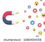 social media concept vector... | Shutterstock .eps vector #1080404558