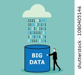 cloud computing and big data... | Shutterstock .eps vector #1080405146