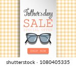 fathrs day sale. happy holiday... | Shutterstock .eps vector #1080405335