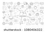 omnichannel icons set. line... | Shutterstock .eps vector #1080406322