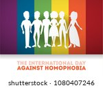 day against homophobia greeting ... | Shutterstock .eps vector #1080407246