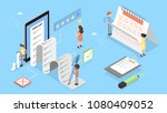 checklist concept illustration. ... | Shutterstock .eps vector #1080409052