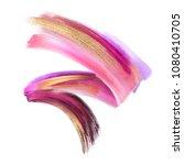 creative cosmetics brush stroke ... | Shutterstock . vector #1080410705