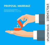 cartoon proposal marriage... | Shutterstock .eps vector #1080417065