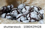 chocolate crinkle cookies with... | Shutterstock . vector #1080429428