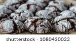 chocolate crinkle cookies with... | Shutterstock . vector #1080430022