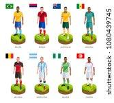 group soccer football player...   Shutterstock .eps vector #1080439745